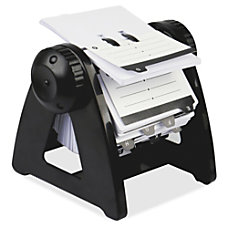Business card holders nonskid base at office depot lorell metal rotary card file 250 reheart Choice Image
