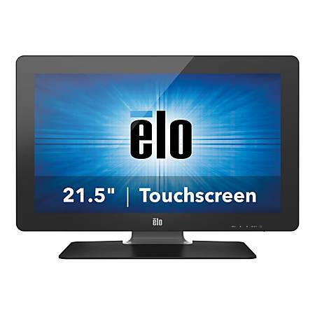 """Elo Desktop Touchmonitors 2201L IntelliTouch Plus - LED monitor - 22"""" - touchscreen - 1920 x 1080 Full HD (1080p) - 225 cd/m² - 1000:1 - 5 ms - DVI-D, VGA - speakers - black"""
