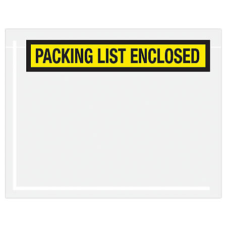 """Office Depot® Brand """"Packing List Enclosed"""" Envelopes, Panel Face, 6 3/4"""" x 5"""", Yellow, Pack Of 1,000"""