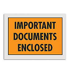 Office Depot Brand Important Documents Enclosed