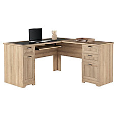 Realspace Magellan L Shaped Desk Blonde