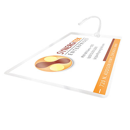 """GBC® LongLife™ Thermal Laminating Pouches, Luggage Tag Size, 10 Mil, 2.5"""" x 4.25"""", Pack Of 100"""