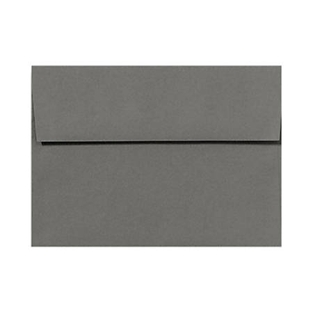 "LUX Invitation Envelopes With Peel & Press Closure, A2, 4 3/8"" x 5 3/4"", Smoke Gray, Pack Of 1,000"