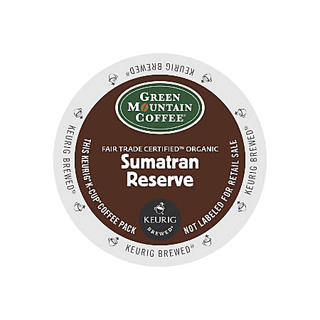Green Mountain Coffee® Fair Trade Organic Sumatran Reserve Extra Bold Coffee K-Cups®, Box Of 24