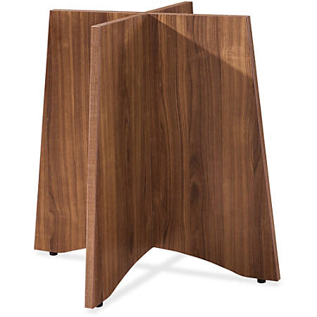 Lorell Laminate Conference Table Base For Round Tops Walnut
