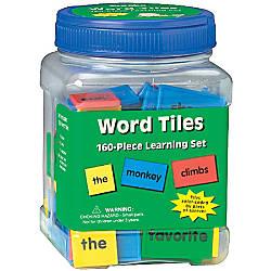 Eureka Learning Tool Tubs Word Tiles