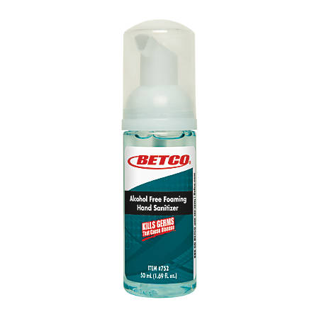 Betco® Alcohol-Free Foaming Hand Sanitizer, 50 mL, Case Of 24