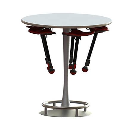 Safco® Collision Table, Round, White/Silver