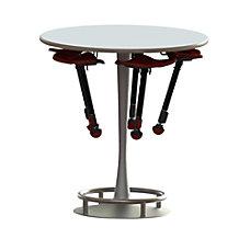 Safco Collision Table Round WhiteSilver