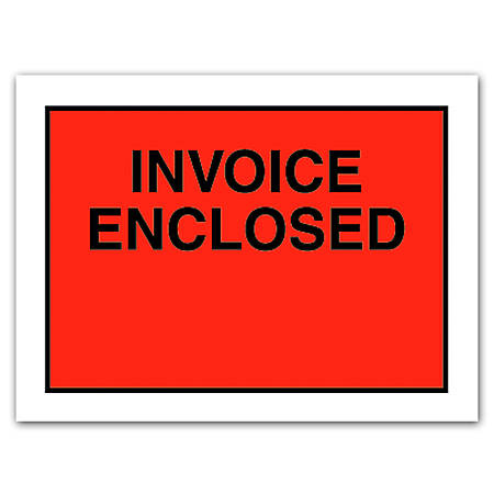 Office Depot Brand Invoice Enclosed Envelopes Full Face X Red - Invoice enclosed envelopes