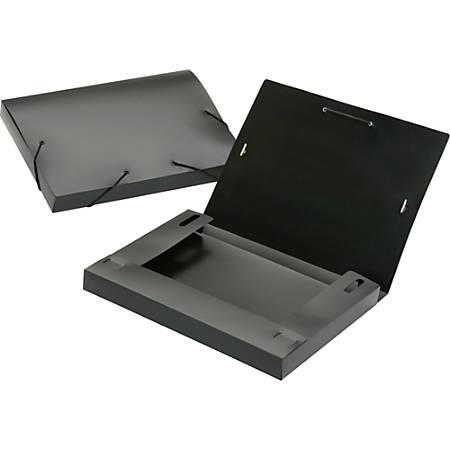 SKILCRAFT® Poly Expanding File Box, Letter Size, Black