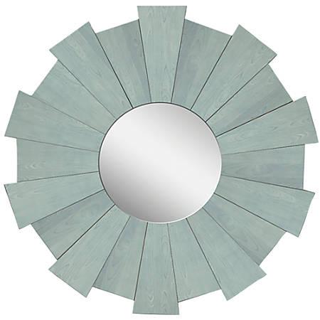 """PTM Images Framed Mirror, Burst, 20""""H x 20""""W, Washed Blue"""