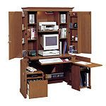 Sauder Monarch Computer Armoire Workcenter 71 38 H x 41 12 W x 23 D