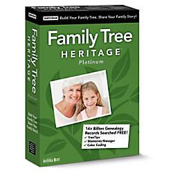 Individual Software Family Tree Heritage Platinum
