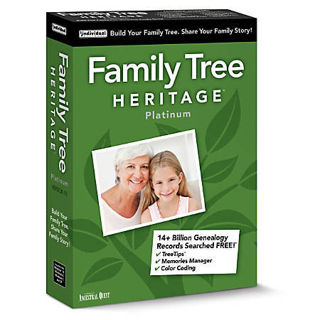 Individual Software Family Tree Heritage™ Platinum 15, Traditional Disc