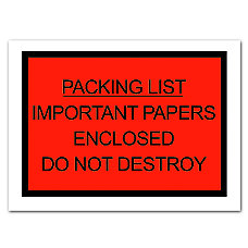 Office Depot Brand Packing List Important