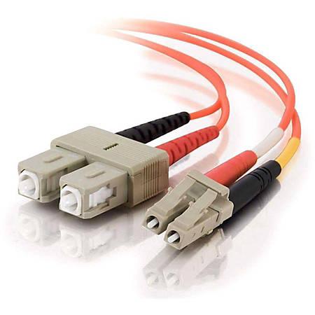 C2G 20m LC-SC 50/125 OM2 Duplex Multimode PVC Fiber Optic Cable (USA-Made) - Orange