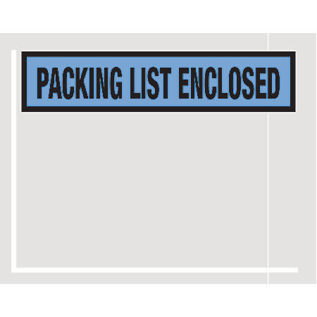 """Office Depot® Brand """"Packing List Enclosed"""" Envelopes, Panel Face, 4 1/2"""" x 5 1/2"""", Blue, Pack Of 1,000"""