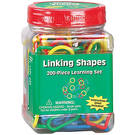 Eureka™ Learning Tool Tubs, Linking Shapes, Pack Of 6