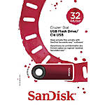 SanDisk® USB 2.0 Flash Drive, 32GB, Assorted Colors, SDSSOD-BTS17
