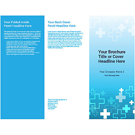 Customizable Trifold Brochure, Blue Plus