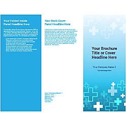 Customizable Trifold Brochure Blue Plus