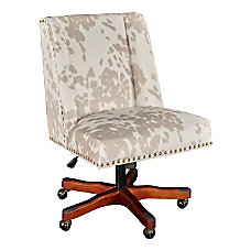 Linon Cooper Mid Back Chair Cow