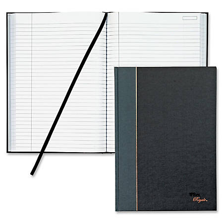 """TOPS® Royale Casebound Notebook, 8 1/4"""" x 11 3/4"""", Legal Ruled, 96 Sheets, Gray"""