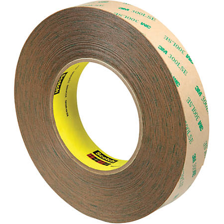 """Scotch® 9472LE Adhesive Transfer Tape Hand Rolls, 3"""" Core, 1"""" x 60 Yd., Clear, Case Of 9"""