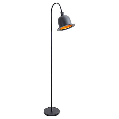 """Lumisource Charlie Floor Lamp, 64 1/2""""H, Gold Shade/Gold Base"""
