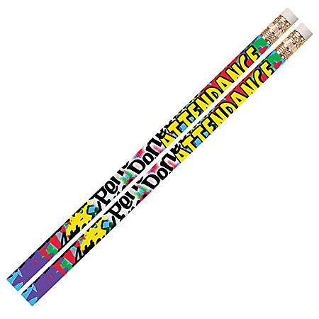 Musgrave Pencil Co. Motivational Pencils, 2.11 mm, #2 Lead, Perfect Attendance, Multicolor, Pack Of 144