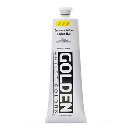 Golden Heavy Body Acrylic Paint, 5 Oz, Cadmium Yellow Medium Hue