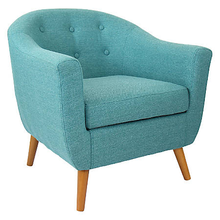Lumisource Accent Chair, Rockwell, Teal/Brown