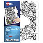 "Avery® Big Tab Reversible Fashion Dividers, 8 1/2"" x 11"", Black/White, Pack Of 5"