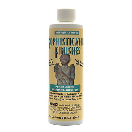 Triangle Coatings Sophisticated Finishes Patina Green Antiquing Solution, 8 Oz