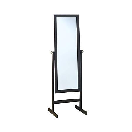 "Monarch Specialties Bekka Rectangle Mirror, 60""H x 21-1/4""W x 17-1/2""D, Cappuccino"