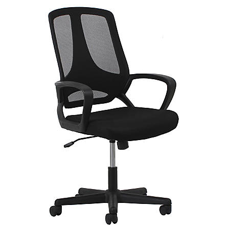 OFM Essentials Mesh High-Back Task Chair, Black/Silver