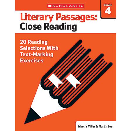 Scholastic Literary Passages Close Reading Workbook, Grade 4