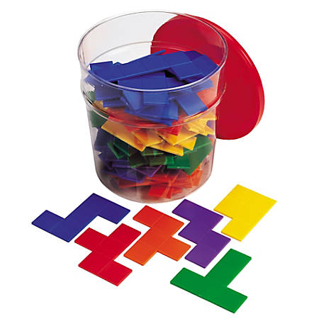 """Learning Resources® Rainbow™ Premier Pentominoes, 5 3/4""""H x 5 3/4""""W x 6 1/4""""D, Assorted Colors, Grades 1-8, 12 Pieces Per Pentomino, Pack Of 6 Pentominoes"""