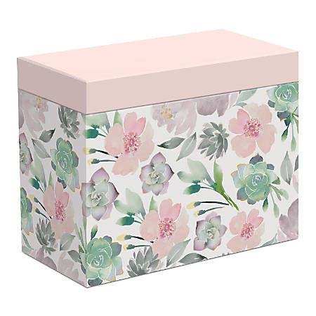 """Lady Jayne All-Occasion Note Cards With Envelopes, 3-1/2"""" x 4-3/4"""", Assorted Succulent Designs, Pack Of 16 Cards"""