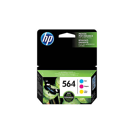 HP 564 Cyan, Magenta & Yellow Original Ink Cartridges (N9H57FN), Pack Of 3