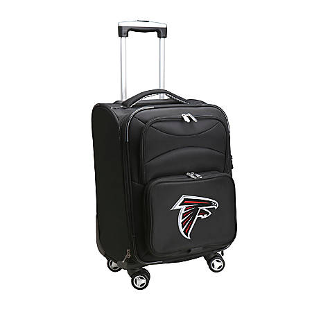 "Denco ABS Upright Rolling Carry-On Luggage, 21""H x 13""W x 9""D, Atlanta Falcons, Black"