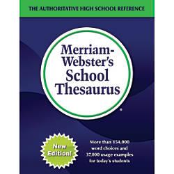 Merriam Websters School Thesaurus