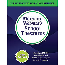 Merriam Websters School Thesaurus