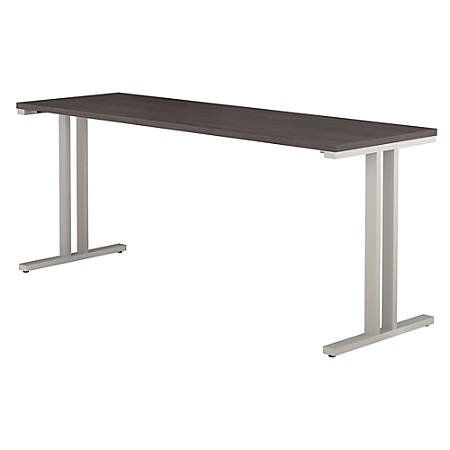 "Bush Business Furniture 400 Series Training Table, 72""W x 24""D, Storm Gray, Premium Installation"