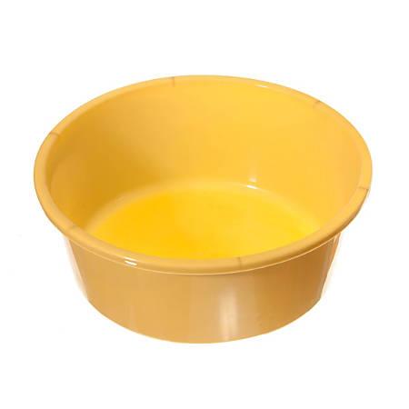 Medline Round Plastic Washbasins, 5 Qt, Gold, Pack Of 50