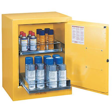 Sure-Grip EX Aerosol Can Safety Cabinets, Manual-Closing, 24 Aerosol Cans