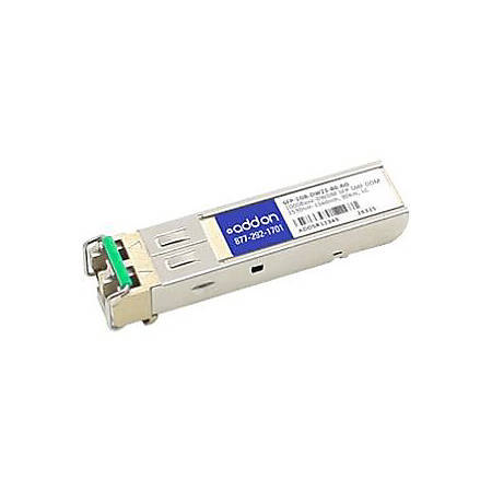 AddOn MSA and TAA Compliant 1000Base-DWDM 100GHz SFP Transceiver (SMF, 1558.98nm, 80km, LC, DOM)