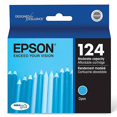 Epson® 124, (T124220) DuraBrite® Ultra Moderate-Capacity Cyan Ink Cartridge