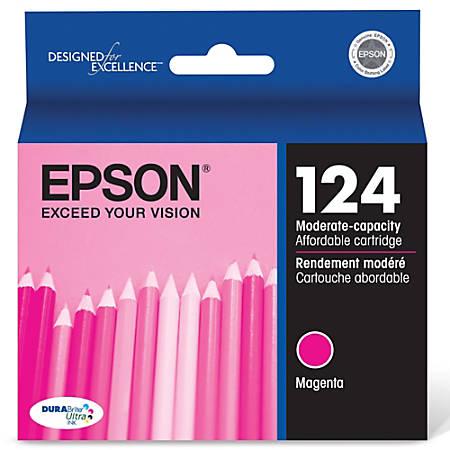 Epson® 124, (T124320) DuraBrite® Ultra Moderate-Capacity Magenta Ink Cartridge